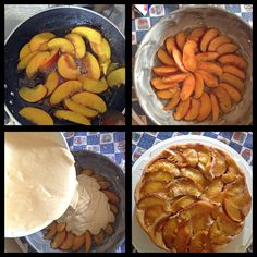 Peach pie home made!