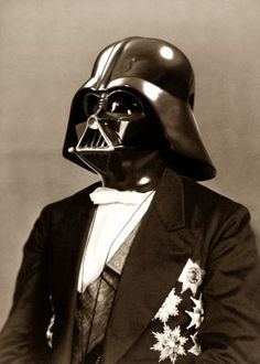 Portrait of Sir Vader - military commander and statesman. Star Wars portrait mashup.