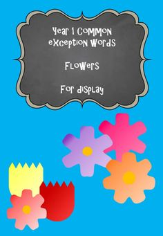 Year 1 Common Exception Words - Flowers