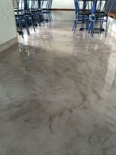 cocinas en microcemento - Buscar con Google Stained Concrete, Concrete Floors, Hit The Floors, Polished Concrete, Modern Kitchen Design, Ceiling Design, Store Design, Home Projects, Home Remodeling