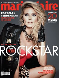 Heidi Klum, Marie Claire Mexico from September 2014 Magazine Covers  The gorgeous mother-of-four heats up the cover of Marie Claire Mexico.