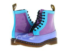 Dr. Martens Harrie Brogue Boot Bright Purple/Sunny Blue/Dusty Blue - these were a total splurge - who really needs blue & purple Docs - but I LOVE them!