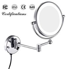 $ 165.99 GURUN 8Inch Twosided Swivel Wall Mounted Makeup Mirror LED Light with 7x MagnificationChrome Finish M1805D8in7x *** AMAZON Great Sale