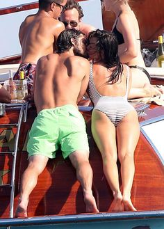 It's hot at the back of the boat! Prince Carl Philip of Sweden, and his girlfriend Sofia Hellqvist locked lips at sea aboard the Polaris.