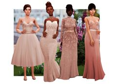 """zeussim: """" Here it is my Scandalace collection! Anyway, I hope you'll all enjoy them very much! I spent quite a bit of time on these. Sims 4 Mods Clothes, Sims 4 Clothing, Sims Mods, Clothing Sets, Maxis, Sims 4 Wedding Dress, The Sims 4 Packs, Sims 4 Dresses, Party Dresses"""