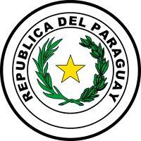 Brasão de armas do Paraguai. Coat of arms of Paraguay.