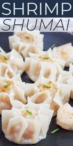 Shrimp shumai is a staple dim sum recipe made with ginger and garlic shrimp, water chestnuts, and a soy sauce mixture, served as dumplings! These pretty and tasty Chinese appetizers are easier to make than you might think. Shrimp Shumai Recipe, Shrimp Recipes, Fish Recipes, Asian Recipes, Chinese Appetizers, Seafood Appetizers, Appetizer Recipes, Shrimp Dumplings, Chinese Dumplings