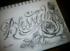 Blessed - Tattoo vorlagen - Tattoo Designs For Women Dope Tattoos, Pretty Tattoos, Ankle Tattoos, Beautiful Tattoos, Body Art Tattoos, Sleeve Tattoos, Tatoos, Chicano Tattoos, Cross Tattoos