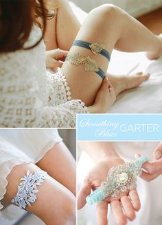 "Blue Garter Wearing a blue garter is a fun way to give a nod to something blue. It also makes for a hidden surprise perfect for the garter toss tradition, or your groom later that night! 8 ""Something Blue"" Wedding Ideas Just For You: Wedding Boudoir, Luxury Wedding Dress, Dream Wedding, Bride Lingerie, Wedding Lingerie, Wedding Exits, Yacht Wedding, Wedding Rings, Something Blue Wedding"