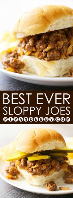 Best EVER Sloppy Joes   You will want to eat six of these! This is the perfect family meal or potluck dish to share. YUM!
