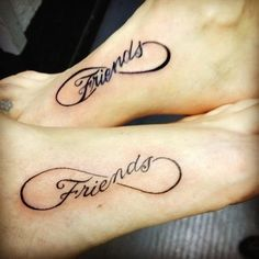 Have you heard of the BFF tattoos? The BFF tattoos are known as the best friend tattoos. Unendlichkeitssymbol Tattoos, Great Tattoos, Trendy Tattoos, Foot Tattoos, Small Tattoos, Girl Tattoos, Tattoos For Guys, Tattoos For Friends, Awesome Tattoos
