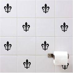 NEW Set 12 Tile Art Wall Decals Stickers DIY Kitchen Bathroom Home Decor  Vinyl | Tile Art, Wall Decal Sticker And Art Walls