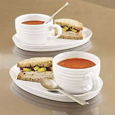 2-Piece Brunswick Soup and Sandwich Set in Specialty Serveware | Crate and Barrel & Soup Bowl u0026 Sandwich Plate Set $14.95/each | Food -- Tableware and ...