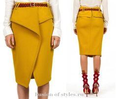 Моделирование юбки с запахом и оригинальной баской