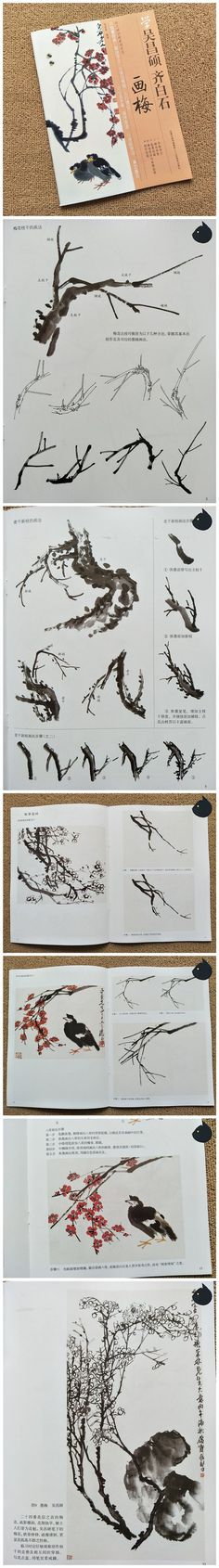 HH104 Learn Painting Plum Blossom from Wu Changshuo Qi Baishi [HH104] - $11.94 : hmay rice paper manufacturer for calligraphy, brush painting&Chinese painting