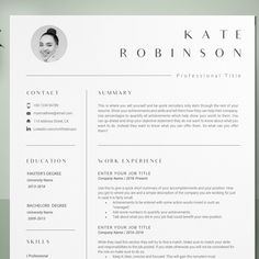 Resume template, Kate Robinson is such a beauty see how we have made this even more spectacular.