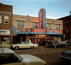 Bay Theater, Second Street, Ashland, Wisconsin, July (Photo: Stephen Shore) Stephen Shore, William Eggleston, Edward Hopper, Edward Weston, Moma, Color Photography, Street Photography, Photography Magazine, Urban Photography