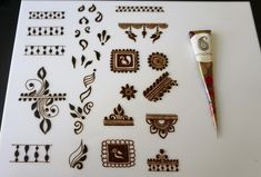 No photo description available. Baby Mehndi Design, Basic Mehndi Designs, Finger Henna Designs, Beginner Henna Designs, Henna Art Designs, Mehndi Designs 2018, Mehndi Designs For Fingers, Wedding Mehndi Designs, Mehndi Design Pictures