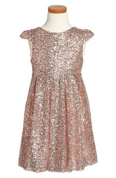 Take a look at this Speechless Gold Sequin Waist Tie Dress - Girls ...