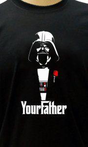 302689b079 Camiseta Your Father Darth Vader - Camisetas Personalizadas