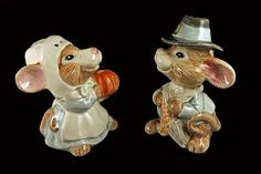 Fitz and Floyd Mayflower Mice Salt and Pepper Shakers
