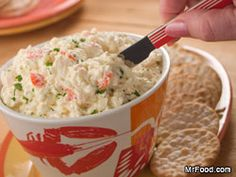 Lobster Dip...great for any time of year. How about Super Bowl..just 5 ingredients and you're done. Serve with crackers, veggies, or toast points.