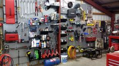 Wall Control Metal Pegboard is a heavy-duty tool storage solution not only for the garage but also in the shop or barn. This great customer submission showcases how Wall Control Metal Pegboard can be used in a metal barn or shed to create a highly versatile and attractive tool storage area.