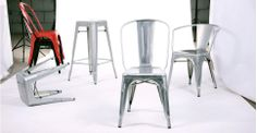 Pair of Legend Café Armchairs in Brushed Galvanized | made.com