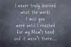 I wish there were visiting hours in heaven Mom, especially on Mothers Day