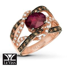 My next husband does NOT know this yet... But THIS is the engagement ring I want!  Rhodolite garnet ring by Le Vian.