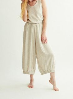 Linen pants / Comfortable eco friendly straight summer linen