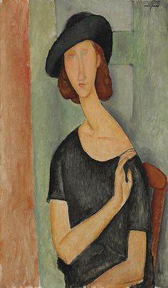Amedeo Modigliani - Jeanne Hébuterne (Au Chapeau) [1919]