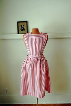 Hospital Volunteer uniform.  We were called Candy Stripers. Delivered flowers to patient rooms, delivered patients by wheelchair to X-Ray Dept., etc.  As an adult I was  in the Ladies Auxiliary for several years and assigned to the Maternity Ward. I had the privilege of taking the Newborn Baby photos when they were just 24 hours old.