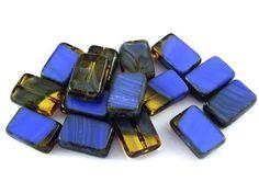 Blue Beads, Czech Glass Beads, Beaded Jewelry, Jewellery, Cufflinks, Accessories, Mango, Manga, Jewels