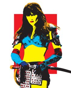 8x10 print Xena Warrior Princess Ninja by Monsterplanetdesign, $10.00