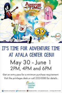 Meet Adventure Time's Finn and Jake at Ayala Center Cebu this May 30