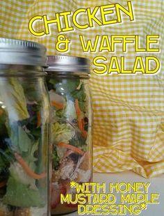 Chicken & Waffle Salad Delicious!