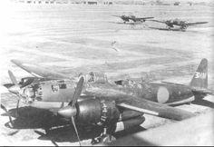銀河 日本海軍が実用した双発爆撃機。 一式陸上攻撃機の後継機として開発された。 マリアナ沖海戦とニューギニア戦線に投入されるも、米軍により壊滅。 その後も、台湾沖航空戦、レイテ戦、九州沖航空戦、沖縄戦などに参加した。
