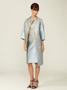Evening Embellished Coat by Carolina Herrera at Gilt