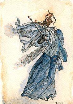 """Titania, Queen of the Fairies""  Arthur Rackham"