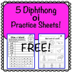 This free product contains 5 worksheets for the diphthong oi.You may like my other Glue-A-Word products:Long Vowels 63 No Prep Printables!Silent Letters 30 No Prep PrintablesR-Controlled Vowels 25 No Prep Printablesink ank onk unk ing ang ong ung 22 No Prep Printables47 Practice Sheets of CVC, CCVC, CCCVC and CVCC Words No Prep PrintablesDolch Sight Words 76 No Prep Printables