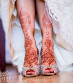 Rich henna sparkly shoes layers of lace.