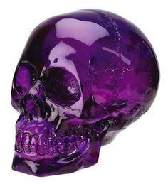 Amethyst skull, my favorite color Purple Love, All Things Purple, Purple Glass, Purple Rain, Shades Of Purple, Deep Purple, Purple Swag, Purple Candy, Purple Stuff