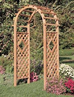 Window Garden Arbor . $307.95. Traditional latticeworkNatural cedar36 x 88 x 24 inches. Arbors are a highly popular item for outdoor décor, and can enhance a garden, pathway, or even a corner by the fishpond, just with their design.  Our Window arbor features traditional latticework up both sides, with a diamond-shaped ?window? in each panel.  Over top of the arch, horizontal slats lay ready for weaving vines, in and out.  Beautiful by itself, this piece is si...