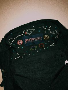 space embroidered backpack - space embroidered backpack space embroidered backpack space embroidered backpack Welcome to our web - Embroidery On Clothes, Simple Embroidery, Embroidered Clothes, Embroidery Patterns, Backpack Outfit, Diy Backpack, Backpack Essentials, Crochet Backpack, Toddler Backpack