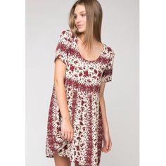 Rose Nicolette Dress Adorable rose printed baby doll dress. Hate to see this go but I just don't wear it enough! Willing to negotiate and take offers  Brandy Melville Dresses Mini