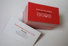 Psychologist Business Card by Evelyn González, via Behance
