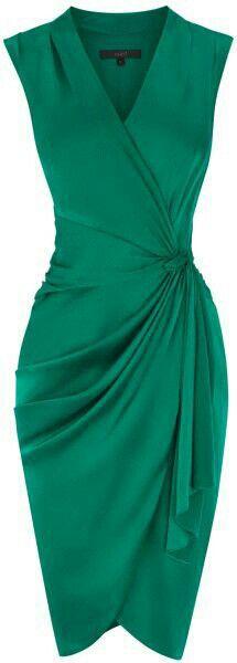 Cocktailkleid in Smaragd (Farbpassnummer Kerstin Tomancok / Farbe, Typ … - Cocktail dress new Trendy Dresses, Cute Dresses, Fashion Dresses, Dress Skirt, Dress Up, Wrap Dress, Barbie Dress, Skater Dress, Outfit Trends