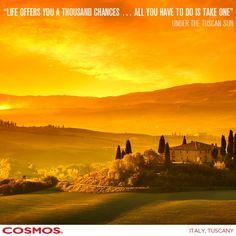 Go for it and go to Tuscany! #CosmosTours http://social.cosmos.com/Xme