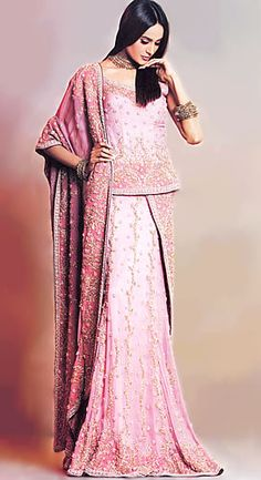 BW6973 Light Pink Strawberry Lehenga Asian Largest Online Boutique Selling Bridal Wear, Heavy Embellished Dresses Bridal Wear